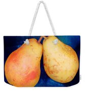 Yellow Pears On Blue Number Two Weekender Tote Bag