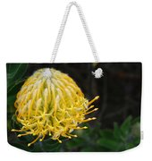 Yellow Pincushion Protea Weekender Tote Bag