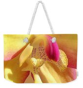 Yellow Pink Orchid Weekender Tote Bag