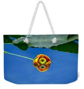 Yellow Pond Lily Weekender Tote Bag