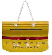 yellow Porsche Weekender Tote Bag