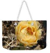 Yellow Prickly Pear Weekender Tote Bag