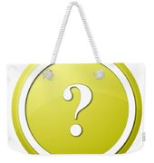Yellow Question Mark Round Button Weekender Tote Bag