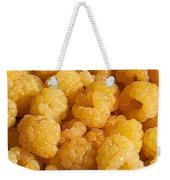 Yellow Raspberry Abstract Weekender Tote Bag