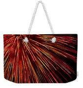 Yellow Red Firework Explosion Weekender Tote Bag