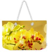Yellow Red Orchid Flowers Art Prints Orchids Weekender Tote Bag