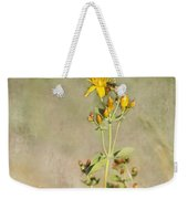 Yellow-red Wildflower With Texture Weekender Tote Bag