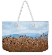 Yellow Reeds And Blue Mountains Weekender Tote Bag