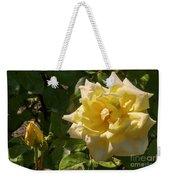 Yellow Rose And Bud Weekender Tote Bag