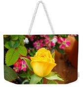Yellow Rose In Bloom Weekender Tote Bag
