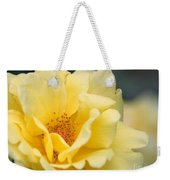 Yellow Rose Macro Weekender Tote Bag