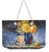 Yellow Roses And Headvase Girl Weekender Tote Bag