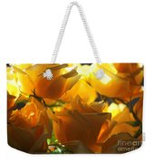 Yellow Roses And Light Weekender Tote Bag