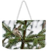 Yellow Rumped Evergreen Weekender Tote Bag