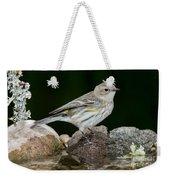 Yellow-rumped Warbler Hen Weekender Tote Bag