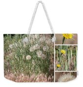 Yellow Salsify Collage Weekender Tote Bag