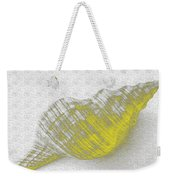 Yellow Seashell Weekender Tote Bag