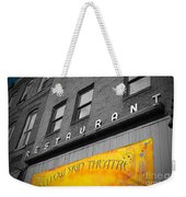 Yellow Sign Theatre Weekender Tote Bag