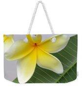 Yellow Star Plumeria Weekender Tote Bag