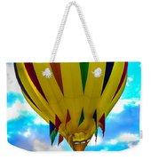 Yellow Striped Hot Air Balloon Weekender Tote Bag