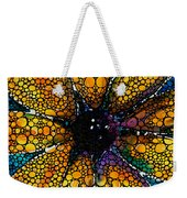 Yellow Sunflower - Stone Rock'd Art By Sharon Cummings Weekender Tote Bag