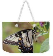 Yellow Swallowtail Butterfly Taking A Drink Weekender Tote Bag