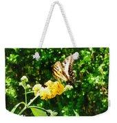 Yellow Swallowtail On Yellow Lantana Weekender Tote Bag
