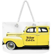 Yellow Taxi Cab Weekender Tote Bag