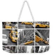 Yellow Taxis Collage Weekender Tote Bag