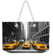 Yellow Taxis In New York City - Usa Weekender Tote Bag