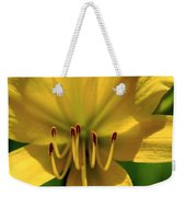 Yellow Too Lily Flower Art Weekender Tote Bag