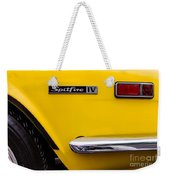 Yellow Triumph Spitfire Weekender Tote Bag