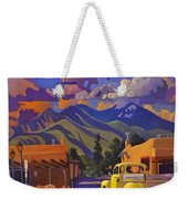 A Yellow Truck In Taos Weekender Tote Bag by Art West