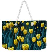 Yellow Tulip Field Weekender Tote Bag