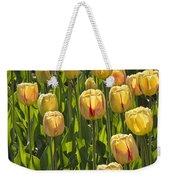 Yellow Tulip Flowers On Windmill Island In Holland Michigan Weekender Tote Bag