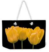 Yellow Tulip Triple Weekender Tote Bag