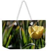 Yellow Tulip With Dew Weekender Tote Bag