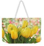 Yellow Tulips In The Spring Garden Weekender Tote Bag