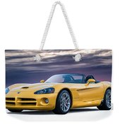 Yellow Viper Convertible Weekender Tote Bag