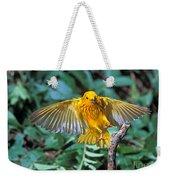 Yellow Warbler Dendroica Petechia Weekender Tote Bag