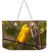Yellow Warbler Singing Weekender Tote Bag