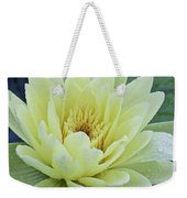 Yellow Water Lily Nymphaea Weekender Tote Bag