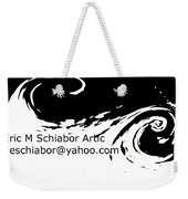 Yellow Wave Abstract Weekender Tote Bag