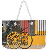 Yellow Wheeled Carriage In Seville Weekender Tote Bag