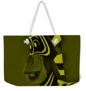 Yellow Zebra Weekender Tote Bag