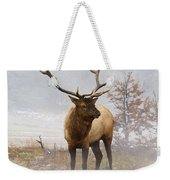 Yellowstone Bull Elk Weekender Tote Bag