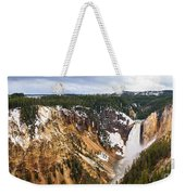 Yellowstone Falls Panorama Weekender Tote Bag