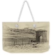 Yellowstone Grand Entrance Weekender Tote Bag