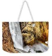 Yellowstone Lower Falls Rainbow Weekender Tote Bag
