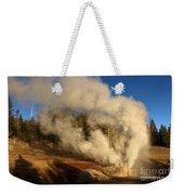 Yellowstone Riverside Eruption Weekender Tote Bag